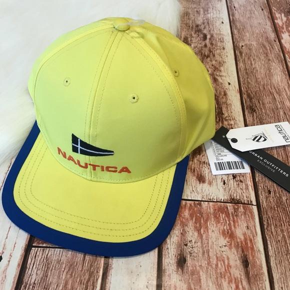 Nautica SnapBack Baseball Hat Yellow NWT ed9ca9c5fe9